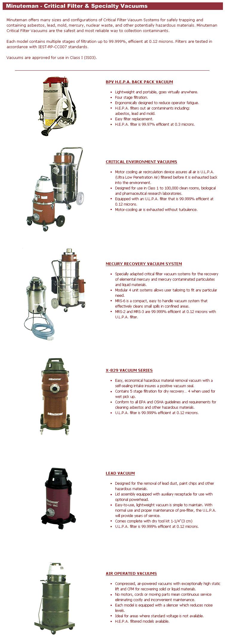 filter vacuum